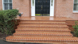 Front porch and steps made out of brick