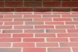 Brick steps close up