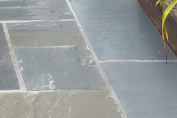 close up of flagstone walkway