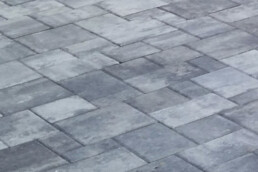 close up of patio made out of pavers